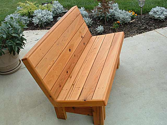 outdoor bench seat designs | Quick Woodworking Projects