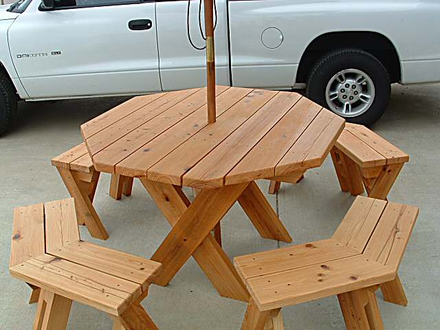 DIY Hexagon Picnic Table Plans Build Plans Free